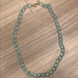 J Crew acrylic chain link necklace longer length